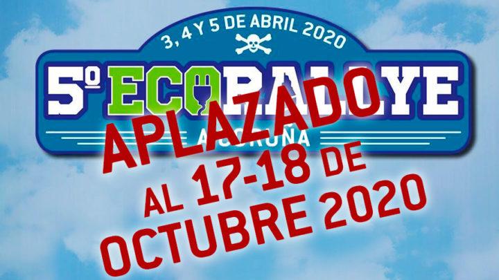 Nueva Fecha para el 5º ECORALLYE A CORUÑA: los días 17 y 18 de OCTUBRE de 2020